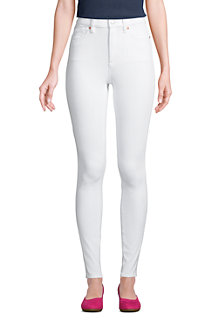 High Waist Leggings-Jeans mit Stretch in Weiß für Damen