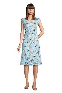 Jersey-Wickelkleid für Damen in Plus-Größe