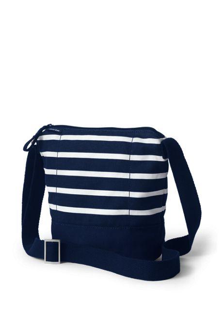 Print Canvas Crossbody Bucket Bag