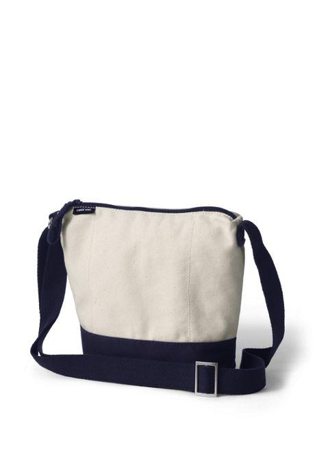 Canvas Crossbody Bucket Bag