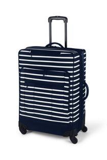 Travel Checked Printed Rolling Luggage Bag