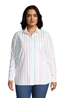 Women's Long Sleeve Peter Pan Collar Oxford Shirt