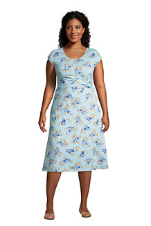 Women's Cap Sleeve Twist Front Fit and Flare Dress