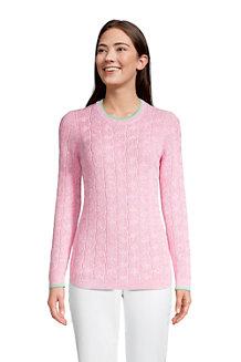 Baumwollpullover DRIFTER mit Rundausschnitt für Damen