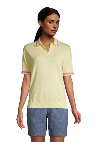 Feinstrick-Poloshirt für Damen
