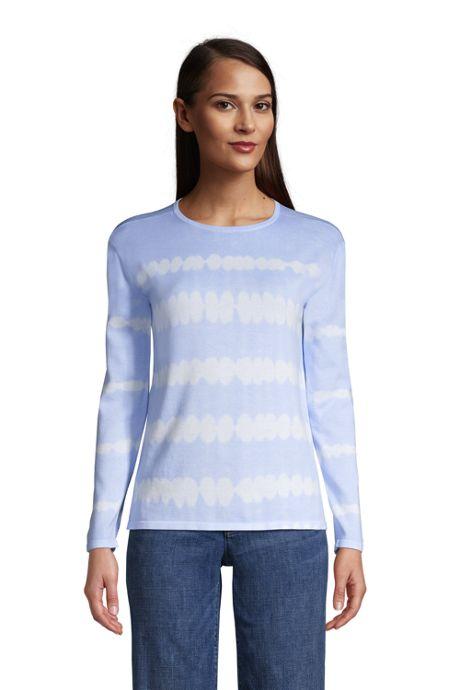 Women's Fine Gauge Cotton Crewneck Sweater