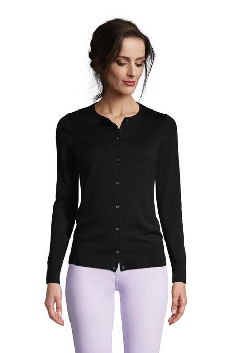 Women's Fine Gauge Cotton Cardigan Sweater