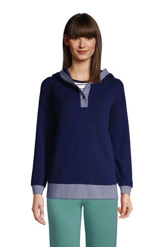 Hoodie Serious Sweats Avec Boutons, Femme Stature Standard