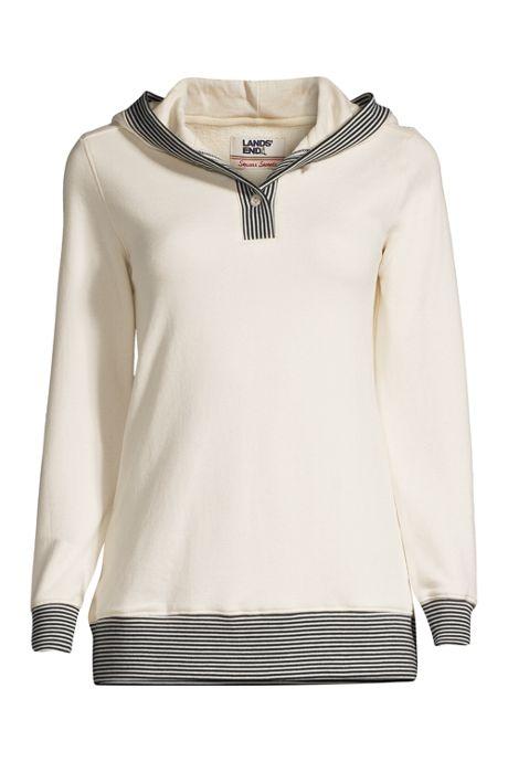 Women's Long Sleeve Serious Sweats Button Hoodie