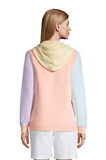 Women's Petite Long Sleeve Serious Sweats Button Hoodie, Back
