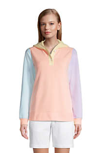 Women's Petite Long Sleeve Serious Sweats Button Hoodie, Front