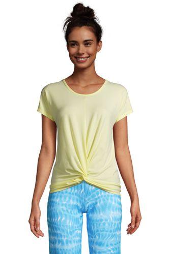 T-Shirt Performance Ourlet Twisté, Femme Stature Standard