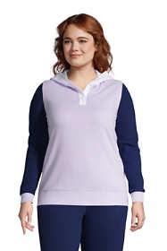 Women's Plus Size Long Sleeve Serious Sweats Button Hoodie