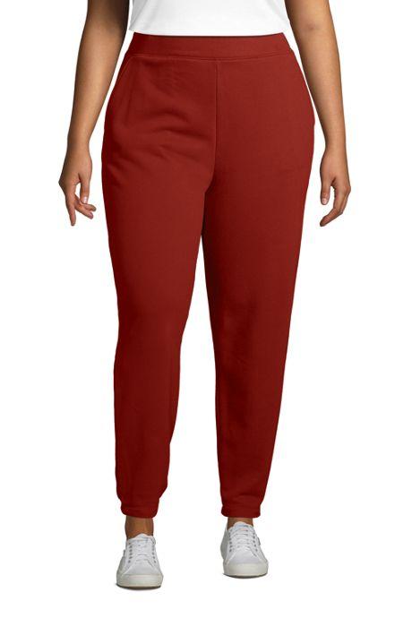 Women's Plus Size Serious Sweats Terry Ankle Sweatpants