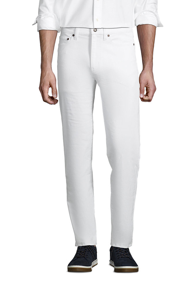 Men's Traditional Fit Comfort-First White Jeans