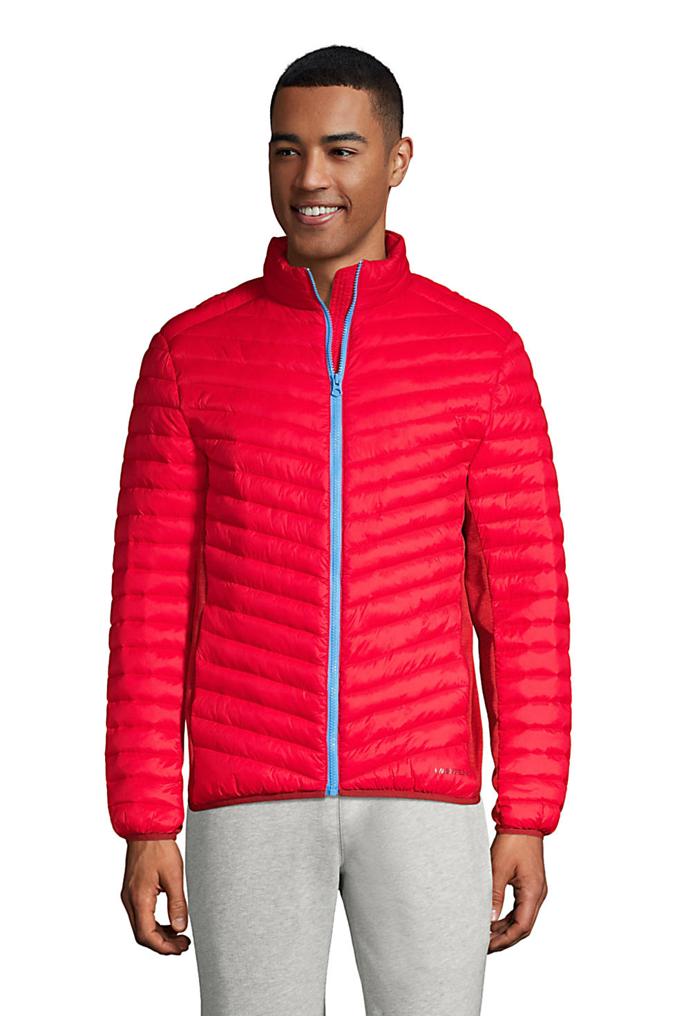 Lands End Men's Insulated Down Alternative Thermoplume Jacket