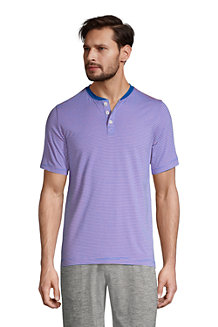 Men's Stretch Jersey Henley Lounge Top