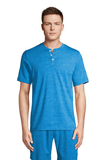 Men's Short Sleeve Comfort Knit Henley Top, Traditional Fit