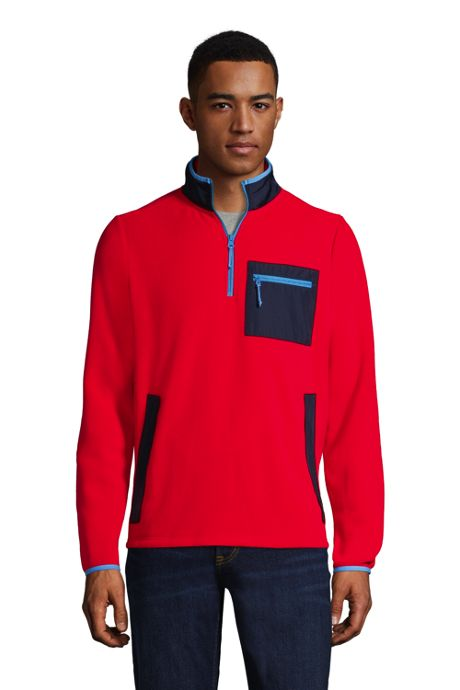 Men's Mix Media Fleece Quarter Zip