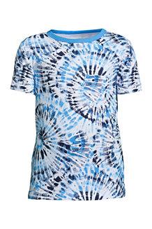 T-Shirt Flammé à Motifs et Manches Courtes, Garçon