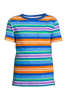 Gemustertes Kurzarm-Shirt mit Slub-Struktur für Jungen