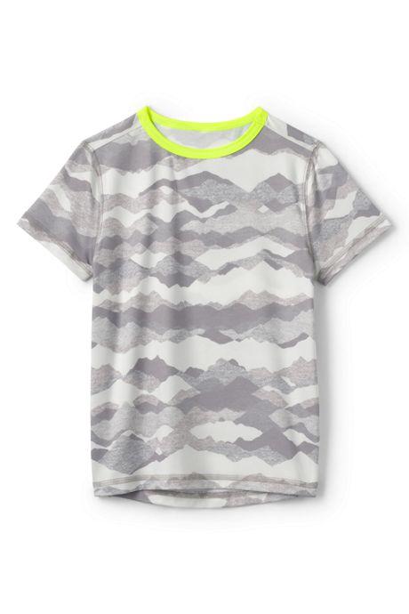Boys Short Sleeve Athletic Pattern Tee Shirt