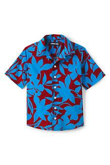 Kurzärmeliges Hemd aus Baumwoll-Popeline für Jungen