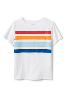 T-Shirt Flammé à Rayure et Manches Courtes, Garçon