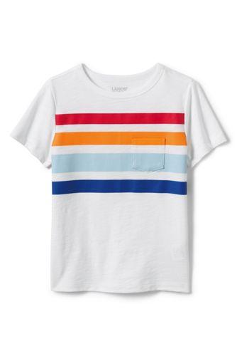 T-Shirt Flammé à Manches Courtes, Garçon