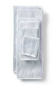 Supima Cotton Textured Stripe Bath Towel
