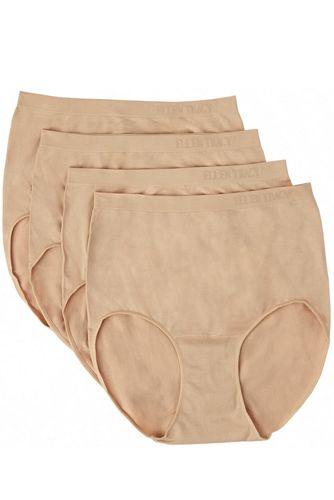 Ellen Tracy Essentials Women's Seamless Brief 4 Pack Underwear