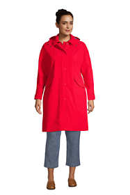 Women's Plus Size Hooded Raincoat