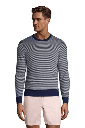 Pull Ras-du-Cou Rayé, Homme Stature Standard