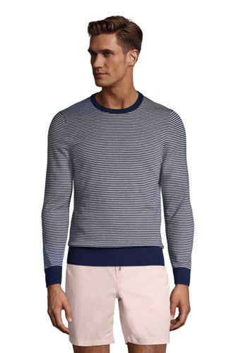 Pullover mit Rundhalsausschnitt und Streifen für Herren