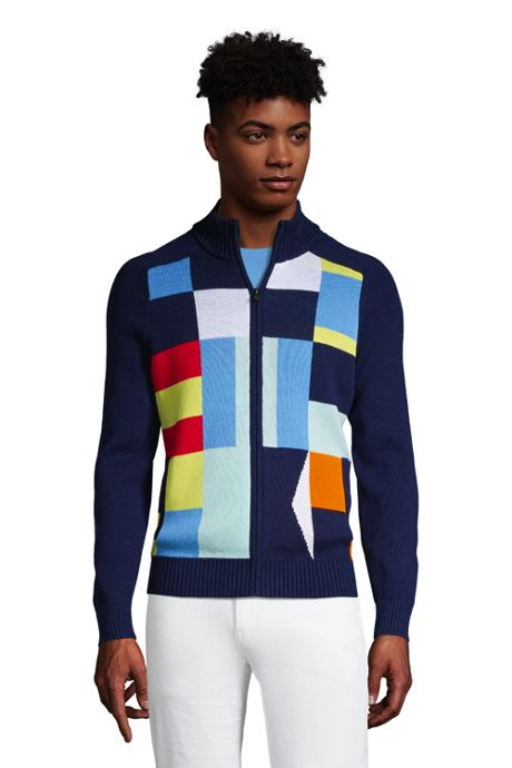 Men's Cotton Flag Full Zip Sweater