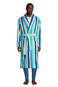 Men's Calf Length Pattern Turkish Terry Robe
