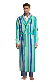 Men's Full Length Pattern Turkish Terry Robe