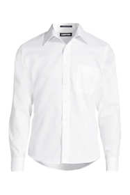 Men's Tall Untucked Traditional Fit Straight Collar No Iron Pinpoint Shirt