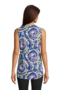 Women's Moisture Wicking UPF Sun Crewneck Tunic Tank Top Print, Back