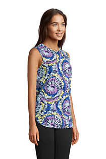 Women's Moisture Wicking UPF Sun Crewneck Tunic Tank Top Print, alternative image