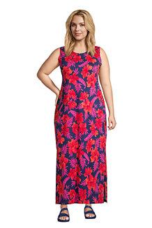 Women's Cotton Jersey Sleeveless Cover-up Maxi Dress