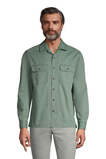 Chemise Col Camp Manches Longues, Homme