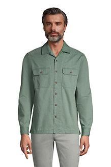 Strukturiertes Langarm-Shirt mit kubanischem Kragen im Classic Fit für Herren