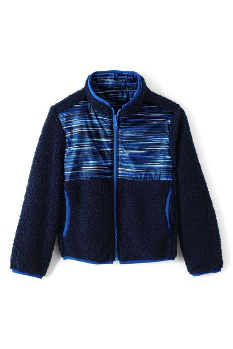 Kids Reversible Fleece Jacket