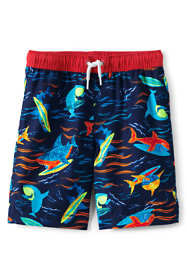 Boys Husky Printed Swim Trunks