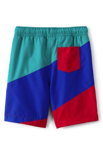 Boys Color Block Swim Trunks