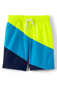 Boys Color Block Swim Trunks