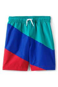Boys Slim Color Block Swim Trunks