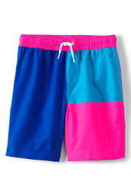 Boys Nautical Color Block Swim Trunks