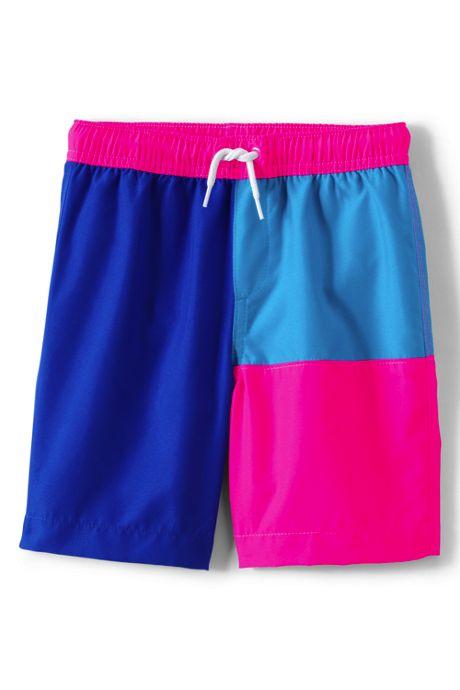 Boys Husky Nautical Color Block Swim Trunks